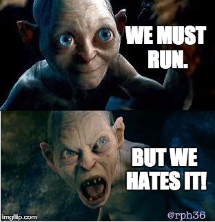 gollum running